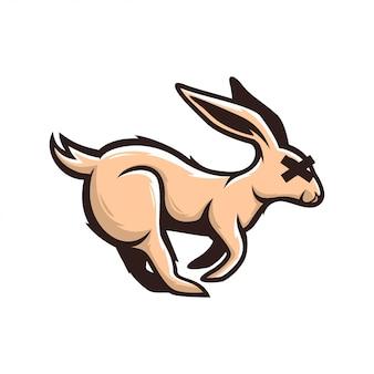 Conejo logo arte vectorial agradable