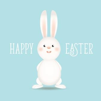 Conejo de pascua feliz