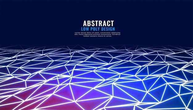 Conexión abstracta baja poli en perspectiva tecnología de fondo