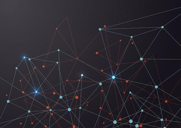Conexión de líneas y puntos