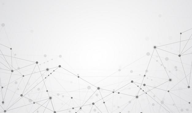 Conexión a internet sentido abstracto de la ciencia.