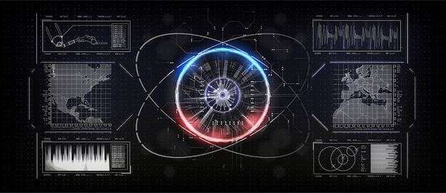 Conexión del mapa mundial. concepto de tecnología.