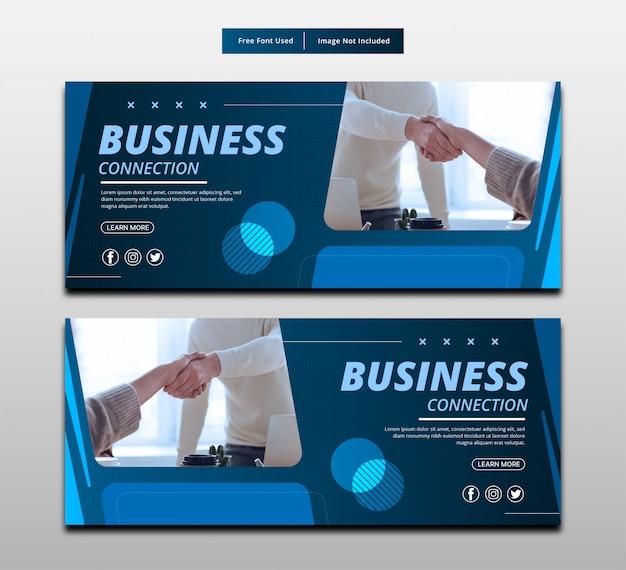 Conexión de negocios de banner.