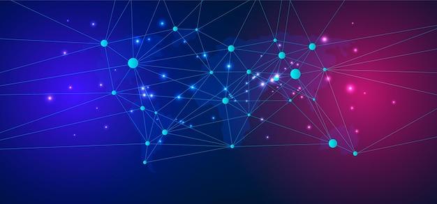 Conexión de red de fondo tecnológico