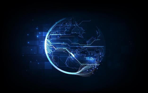 Conexión de red global. concepto de composición de línea y punto de mapa mundial de negocios globales. ilustración vectorial