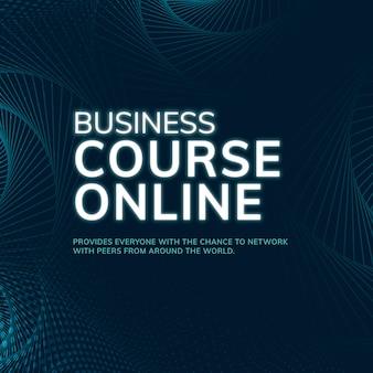 Conexión de red de plantilla de curso de negocios en línea