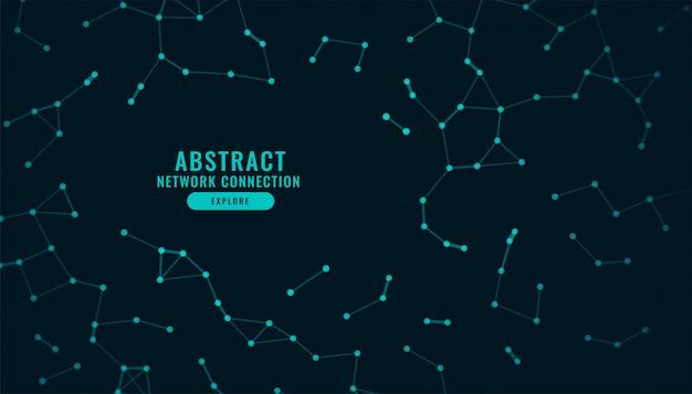 Conexión de red de tecnología digital fondo de baja poli