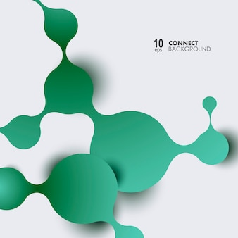 Conexiones de átomos y moléculas.