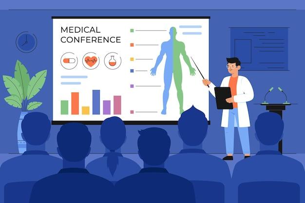 Conferencia médica plana orgánica