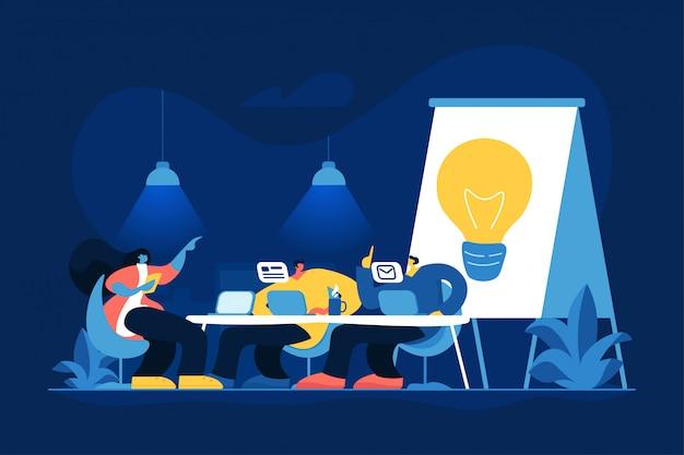 Conferencia de negocios ilustración vectorial plana