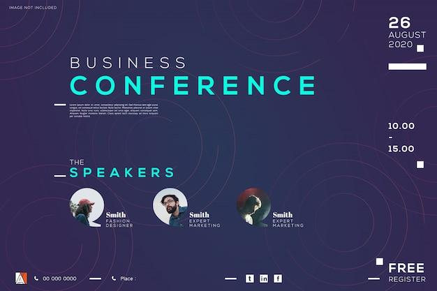 Conferencia de negocios reunión corporativa, diseño creativo.