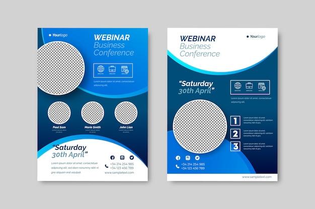 Conferencia de negocios webinar