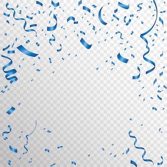 Confeti azul