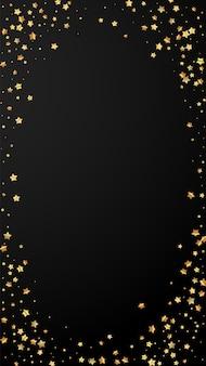 Confeti brillante de lujo aleatorio de estrellas doradas