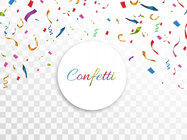 Confeti de colores dispersos. fondo festivo de cumpleaños. fiesta. ilustración.