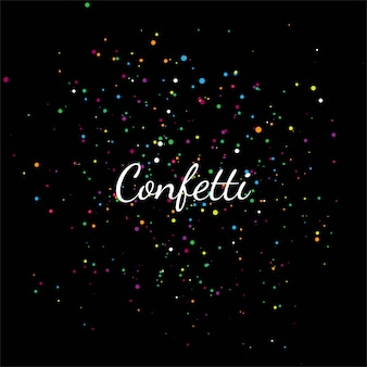 Confeti colorido abstracto