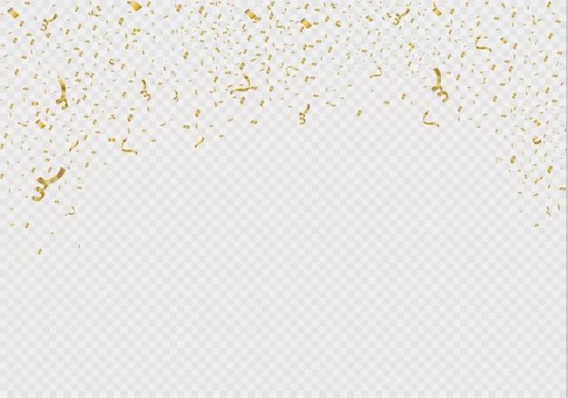 Confeti dorado, aislado sobre fondo celular