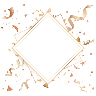 Confeti dorado de diseño festivo.