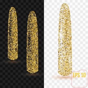 Confeti de oro dildo
