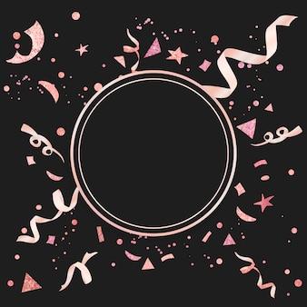 Confeti rosa claro con diseño festivo.