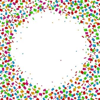 Confeti sin marco redondo colorido para la celebración
