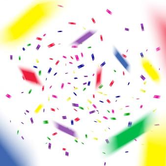 Confeti volador de colores