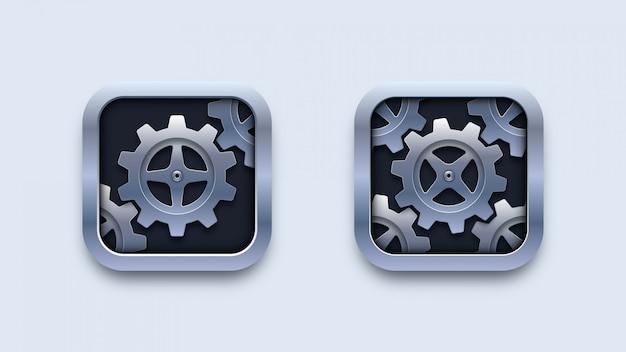 Configuración de ilustración de iconos