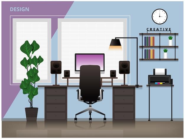 Configuración de la sala de diseño creativo