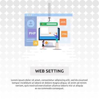 Configuración web