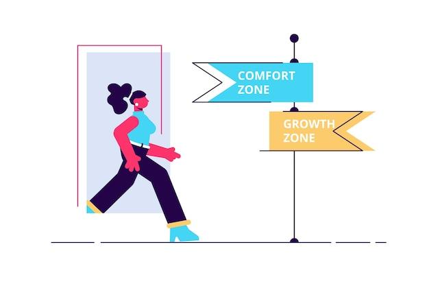 Confort vs zona de crecimiento carrera exitosa