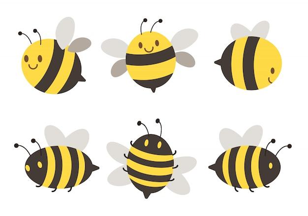 Conjunto de abejas de personaje