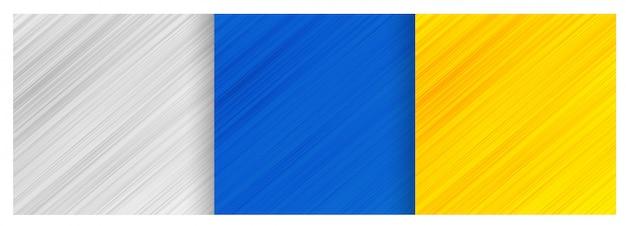 Conjunto abstracto de diseño de fondo de patrón de líneas diagonales