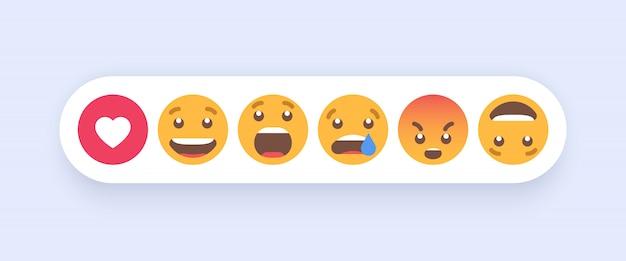 Conjunto abstracto de emoticonos