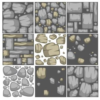 Conjunto abstracto del fondo de la piedra del vector.