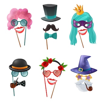 Conjunto de accesorios de carnaval