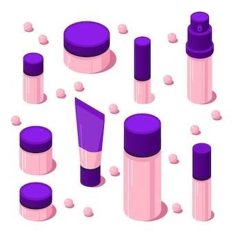 Conjunto de accesorios cosméticos gradiente isométrico