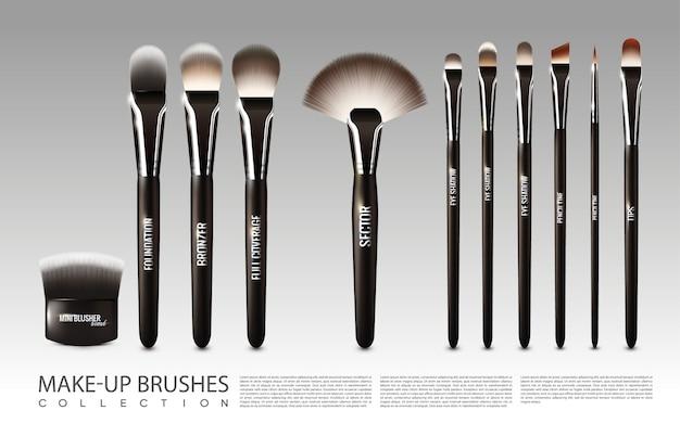 Conjunto de accesorios cosméticos realistas