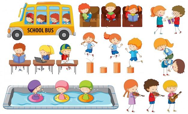 Conjunto de actividades estudiantiles.