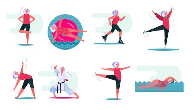 Conjunto de actividades de fitness