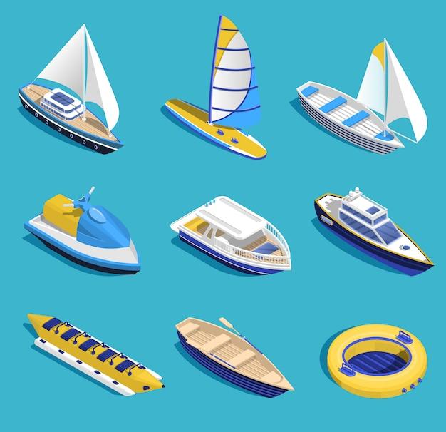 Conjunto de actividades marinas