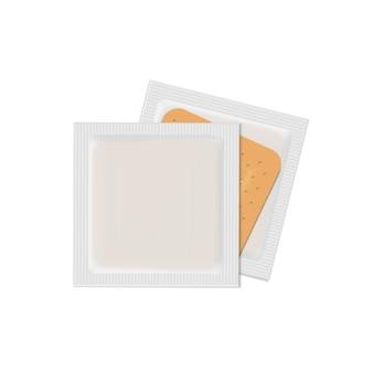 Conjunto de adhesivo médico de vendaje de yeso vendaje de vector aislado en blanco