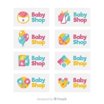 Conjunto adorabe de logos de bebé modernos