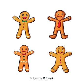 Conjunto adorable de galletas navideñas de gengíbre