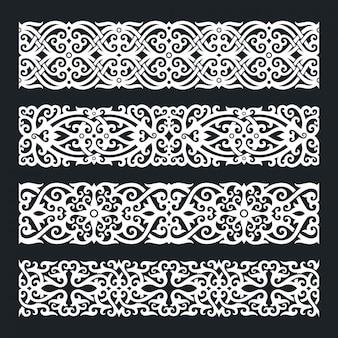 Conjunto de adornos de borneo kalimantan dayak