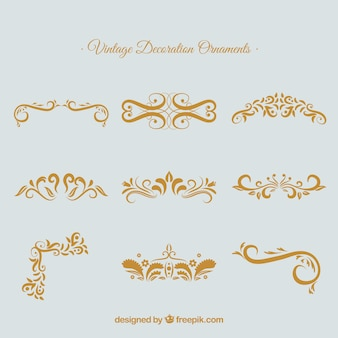 Conjunto de adornos caligráficos elegantes