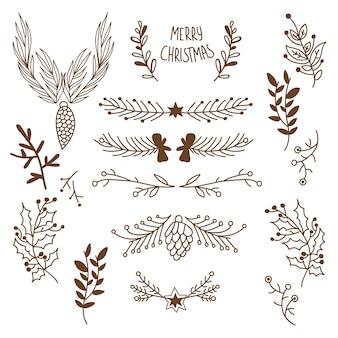 Conjunto de adornos navideños de meerry