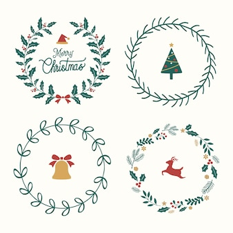 Conjunto de adornos navideños