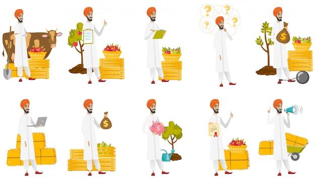 Conjunto de agricultores musulmanes