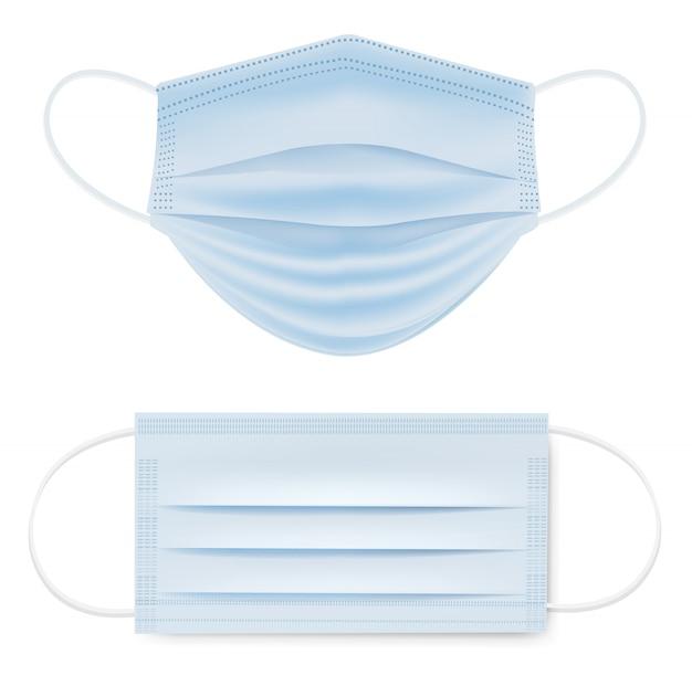 Conjunto aislado dos máscara médica