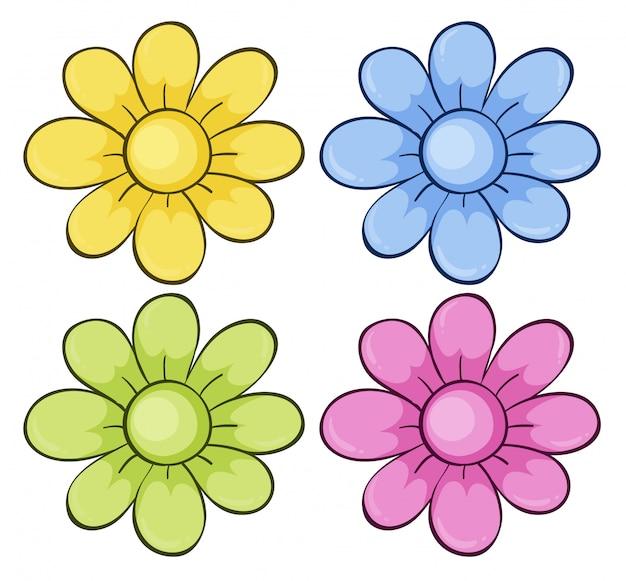 Conjunto aislado de flores